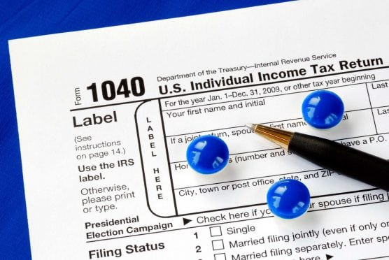 1040 Tax form illustration
