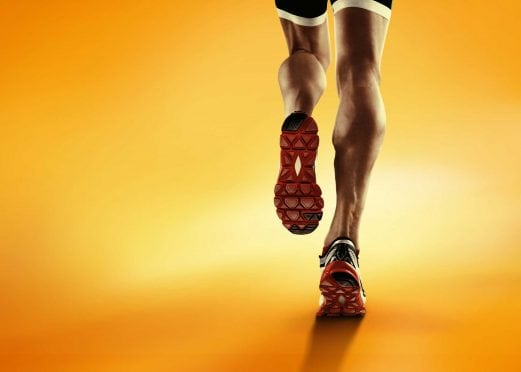 A runner's calves.