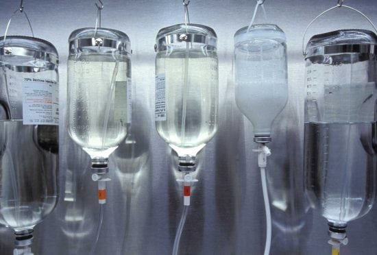 IV bags.