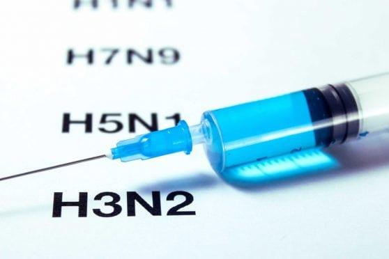 Syringe and H3N2.