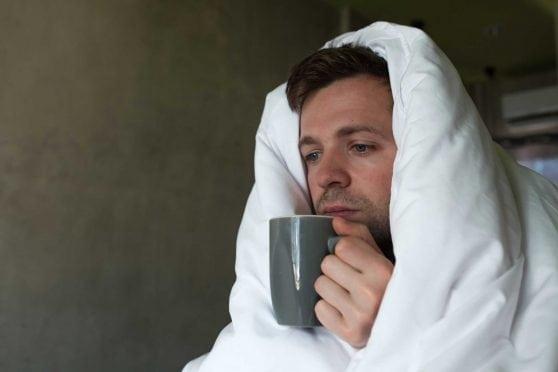 Man with flu.