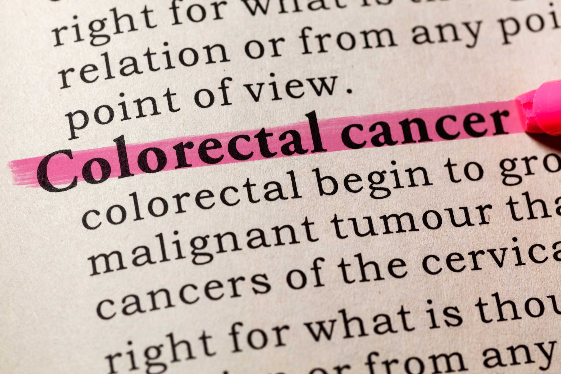 """Colorectal Cancer' in dictionary."