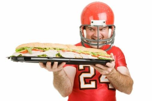 Football players like to eat - a lot!
