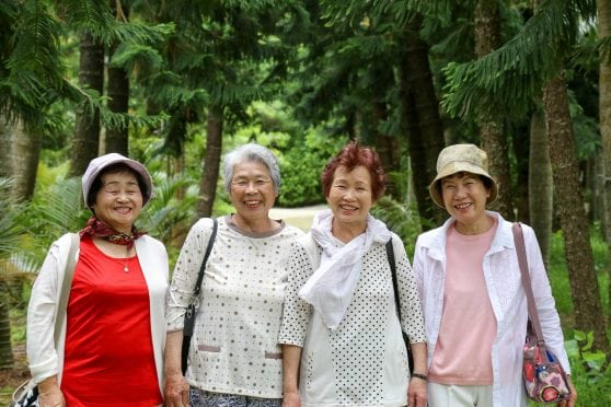 Group of older women in Okinawa.