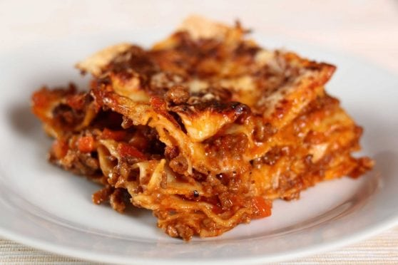 Lasagna recipe.