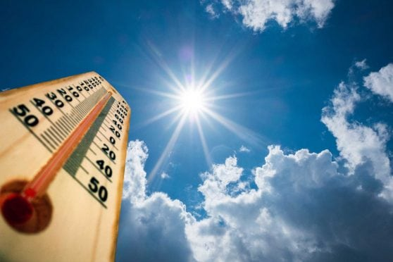 Thermometer under the sun.