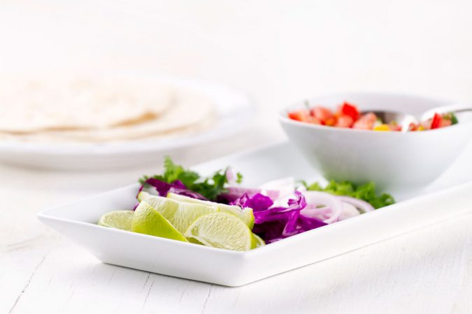 Turkey & Red Cabbage Tortillas With Chipotle Sauce
