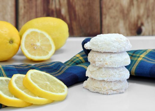 Stacked Sugared Lemon Cookies