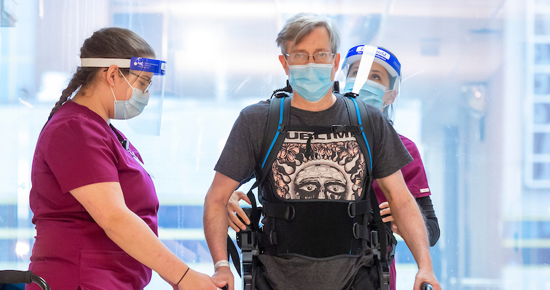 How a Wearable Robotic Exoskeleton Device Helped Him Walk Again