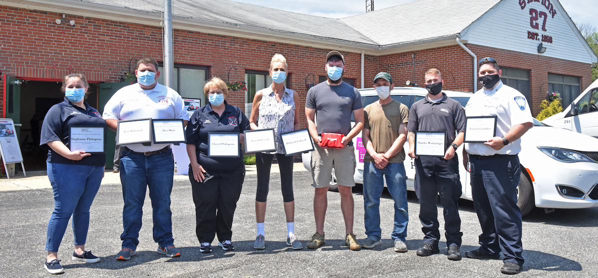 First Responders Honored for Helping Save Baltic Man's Life