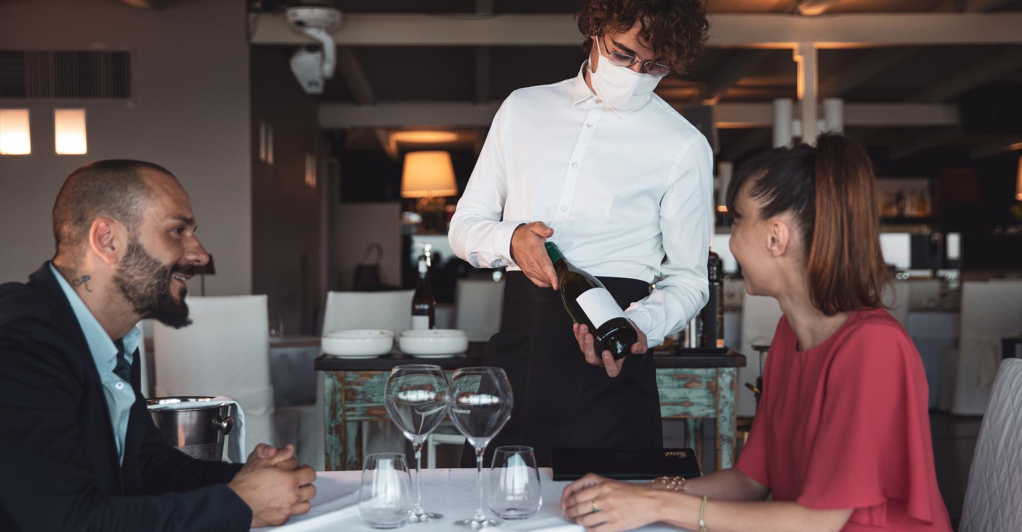Romantic dining in a luxury restaurant